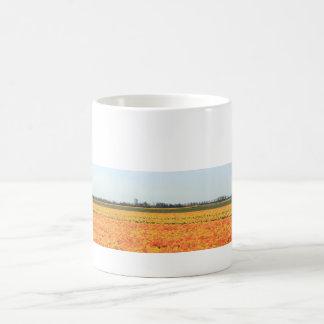 Orange yellow tulips by Thespringgarden Coffee Mug