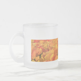 Orange yellow tulips by Thespringgarden Frosted Glass Coffee Mug