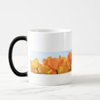 Orange yellow tulips by Thespringgarden Magic Mug