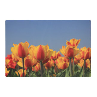 Orange yellow tulips by Thespringgarden Placemat