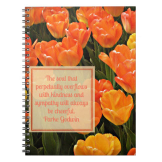 Orange & Yellow Tulips & Kindness Quote Notebooks