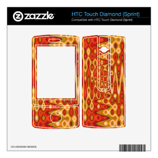 orange yellow vibrant abstract HTC touch diamond skins
