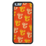 Orange Yellow Vibrant Lobsters Carved® Cherry iPhone 6 Bumper