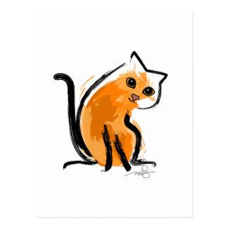 Orange You A Cat Postcard