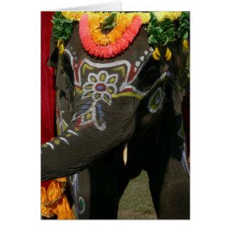 Orange You Glad Asian Elephant Card