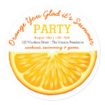 Orange You Glad it's Summer Party Card