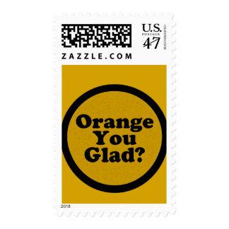 Orange You Glad Joke Stamp