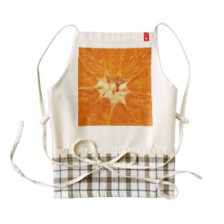 orange zazzle HEART apron