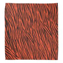 Orange Zebra Animal Print Bandana