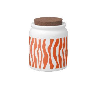 Orange Zebra Candy Jars