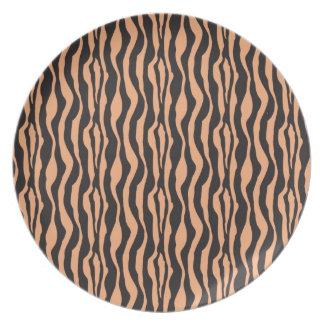 Orange Zebra Print Plate