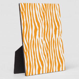 Orange Zebra Stripes Plaque