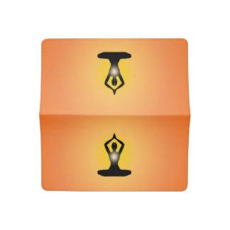 Orange Zen Meditation Sunburst Checkbook Cover