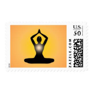 Orange Zen Meditation Sunburst Postage