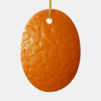 Orange Zest Ceramic Ornament
