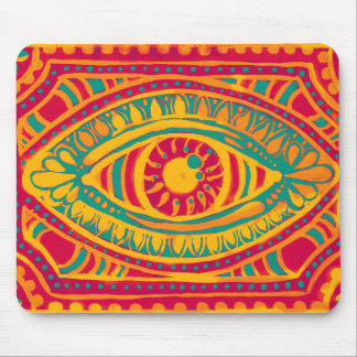 Orange Zest Gypsies Eye Mouse Pad
