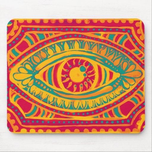 Orange Zest Gypsies Eye Mouse Pads