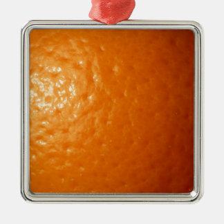 Orange Zest Metal Ornament
