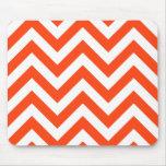 Orange Zigzag Chevrons Pattern Mousepad