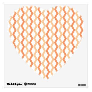 Orange Zigzag Lines Wall Sticker