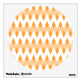Orange Zigzag Pattern with Diamond Shapes. Wall Decal