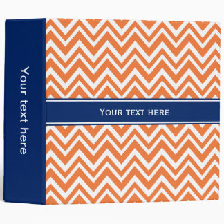 Orange Zigzag Pattern with Royal Blue 3 Ring Binder