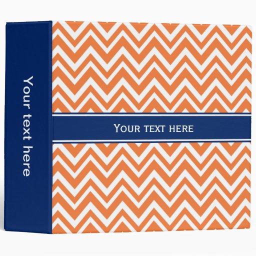 Orange Zigzag Pattern with Royal Blue Binder