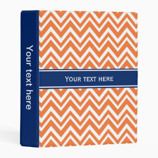 Orange Zigzag Pattern with Royal Blue Mini Binder