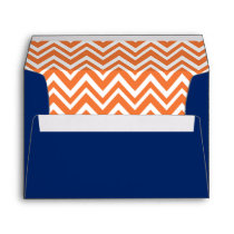 Orange Zigzag Pattern withRoyal Blue Envelope