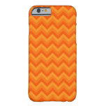 Orange Zigzag Stripes. Barely There iPhone 6 Case