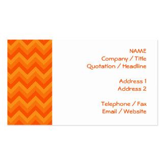 Orange Zigzag Stripes. Business Cards