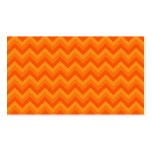 Orange Zigzag Stripes. Business Card Template
