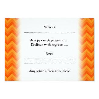 Orange Zigzag Stripes. 3.5x5 Paper Invitation Card