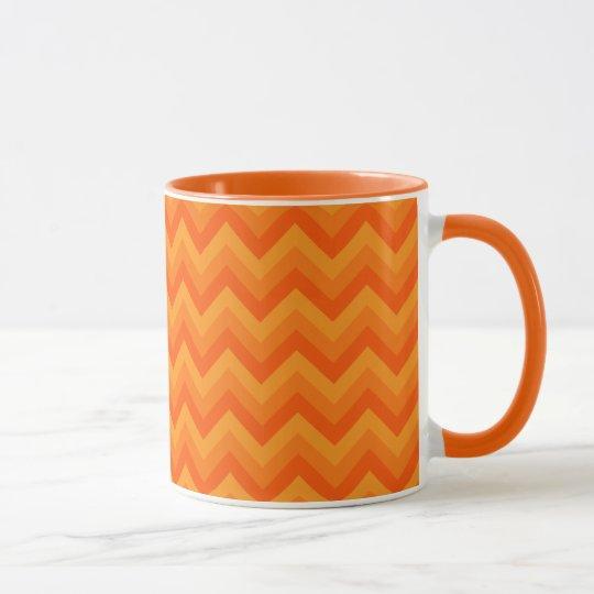 Orange Zigzag Stripes. Mug