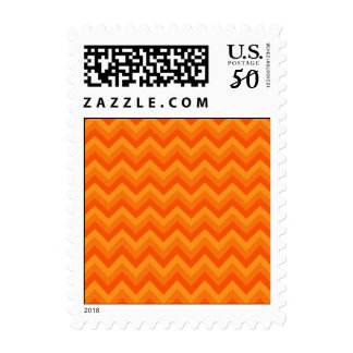 Orange Zigzag Stripes. Postage
