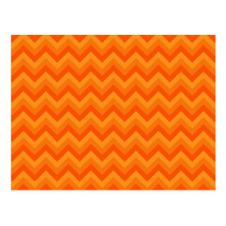 Orange Zigzag Stripes. Postcard