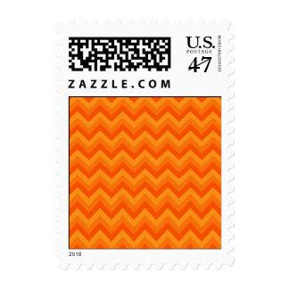 Orange Zigzag Stripes. Stamp