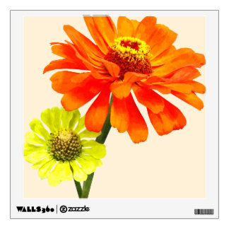 Orange Zinnia and Yellow Zinnia Room Sticker