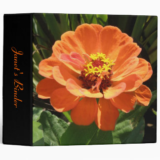 Orange Zinnia Custom Binder
