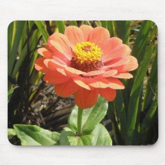 Orange Zinnia Flower Mousepad Mouse Pad