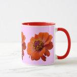 Orange Zinnia Wildflower Photo Mug