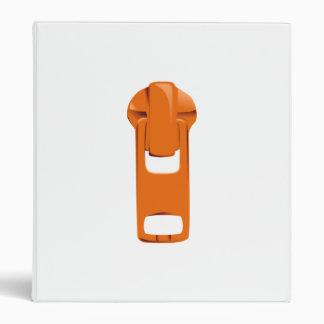Orange Zipper Binder