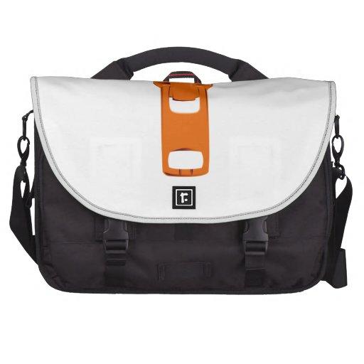 Orange Zipper Computer Bag