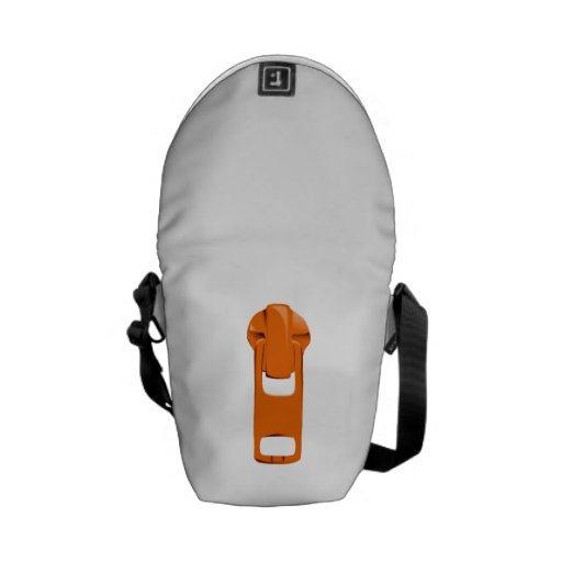 Orange Zipper Messenger Bag