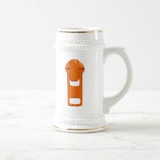 Orange Zipper 18 Oz Beer Stein