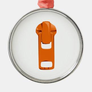 Orange Zipper Ornaments