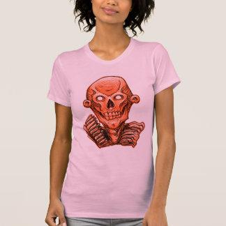 Orange Zombie Skull Head T-shirts