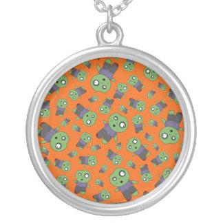 Orange zombies pendant