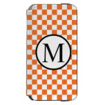 OrangeCheckerboard iPhone 6/6s Wallet Case