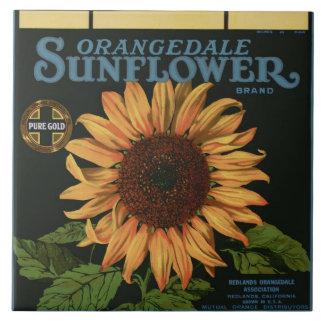 Orangedale Sunflower Orange Crate Label Ceramic Tile